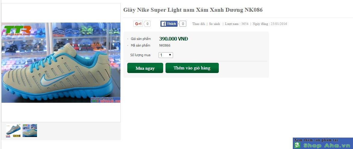 Giày super Light nam