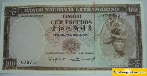 tien cac nuoc chau a Centavo dong timor