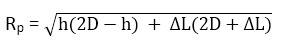 Công thức tính bán kính bảo vệ Kim thu sét dựa trên chiều cao (h)