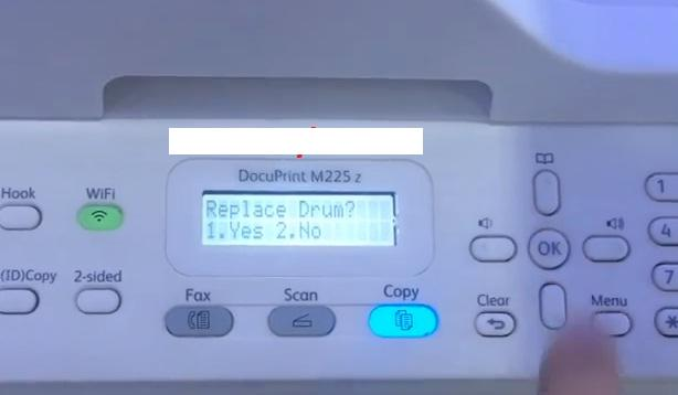 reset may in laser xerox M225