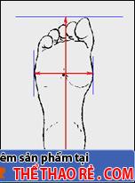đo size chân