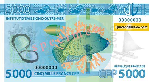 5000 Franc CFP - tien cac nuoc chau au