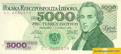 5000 Złoty là tiền tệ của Ba Lan