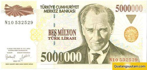 5000000 lira tho nhi ky