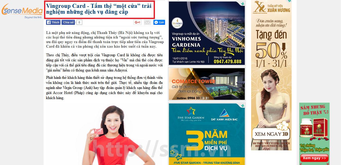 Dịch vụ quảng cáo báo mạng, báo điện tử uy tín chuyên nghiệp trên toàn quốc