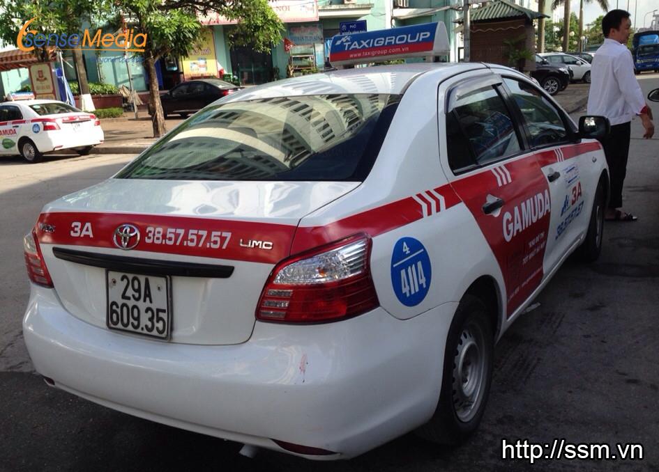 Quảng cáo trên xe taxi Group khách hàng GAMUDA địa điểm Kim Đồng