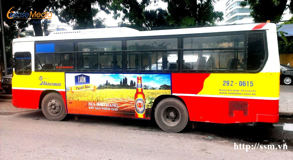 Advertising on bus body