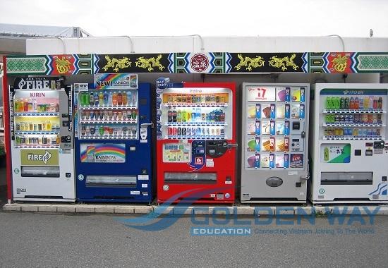 máy bán hàng tự động ở nhật bản