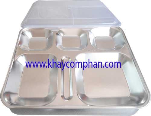 khay com phan 304, khay cơm inox 304