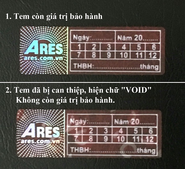 tem bao hanh ares.com.vn