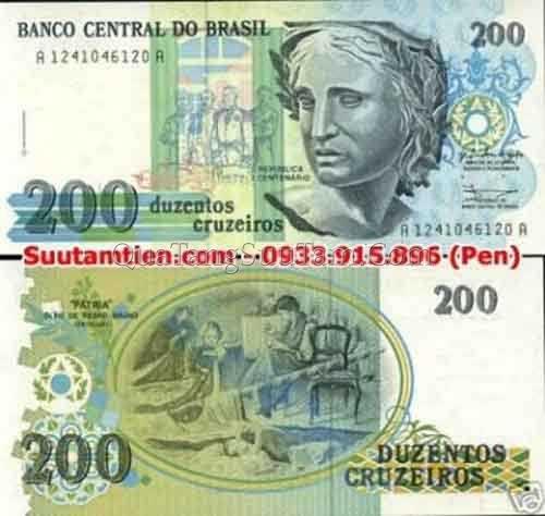 Brazil 200 Cruzeiros 1989_ 35K